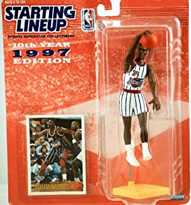 HAKEEM OLAJUWON HOUSTON ROCKETS 1997 NBA Kenner Starting Lineup & Exclusive TOPPS... by Starting Line Up