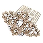 USABride Vintage Gold Tone Wedding Comb Filigree Bridal Hair Accessory 2241-G