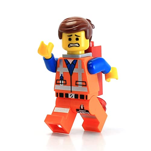 LEGO The Movie LOOSE Minifigure Emmet with Piece of Resistance Grin