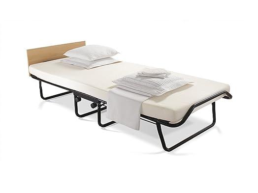 Jay-Be, Impression, letto pieghevole con materasso in schiuma viscoelastica, Tessuto metallo, Silver, Singolo