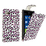 For LG Optimus 4X HD P880 Stylish Pink Leopard PU Leather Magnetic Protected Printed Top Flip Case Cover+Stylus