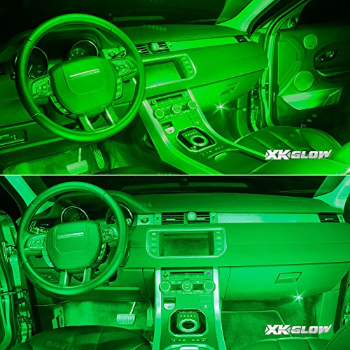 green 4pcs 36 led waterproof three mode neon accent light kit for car interior ebay. Black Bedroom Furniture Sets. Home Design Ideas