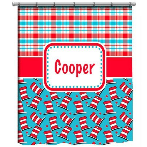 aBaby Custom Personalized Shower Curtain, Dr. Seuss, Name Cooper (Ababy Personalized Shower Curtain compare prices)
