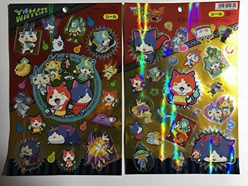 YoKai Watch Big Reflective Sticker Collection Japanese Anime Specter Watch Japan Import - 1