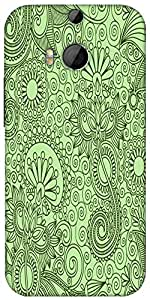 Snoogg Fabric Pattern Light Green Designer Protective Back Case Cover For Htc...