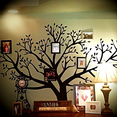 Huge Extraordinary 8' Foot x 9' Foot BIG Removable XXL Family Photo Tree Wall Decal (Picture Tree For Wall compare prices)