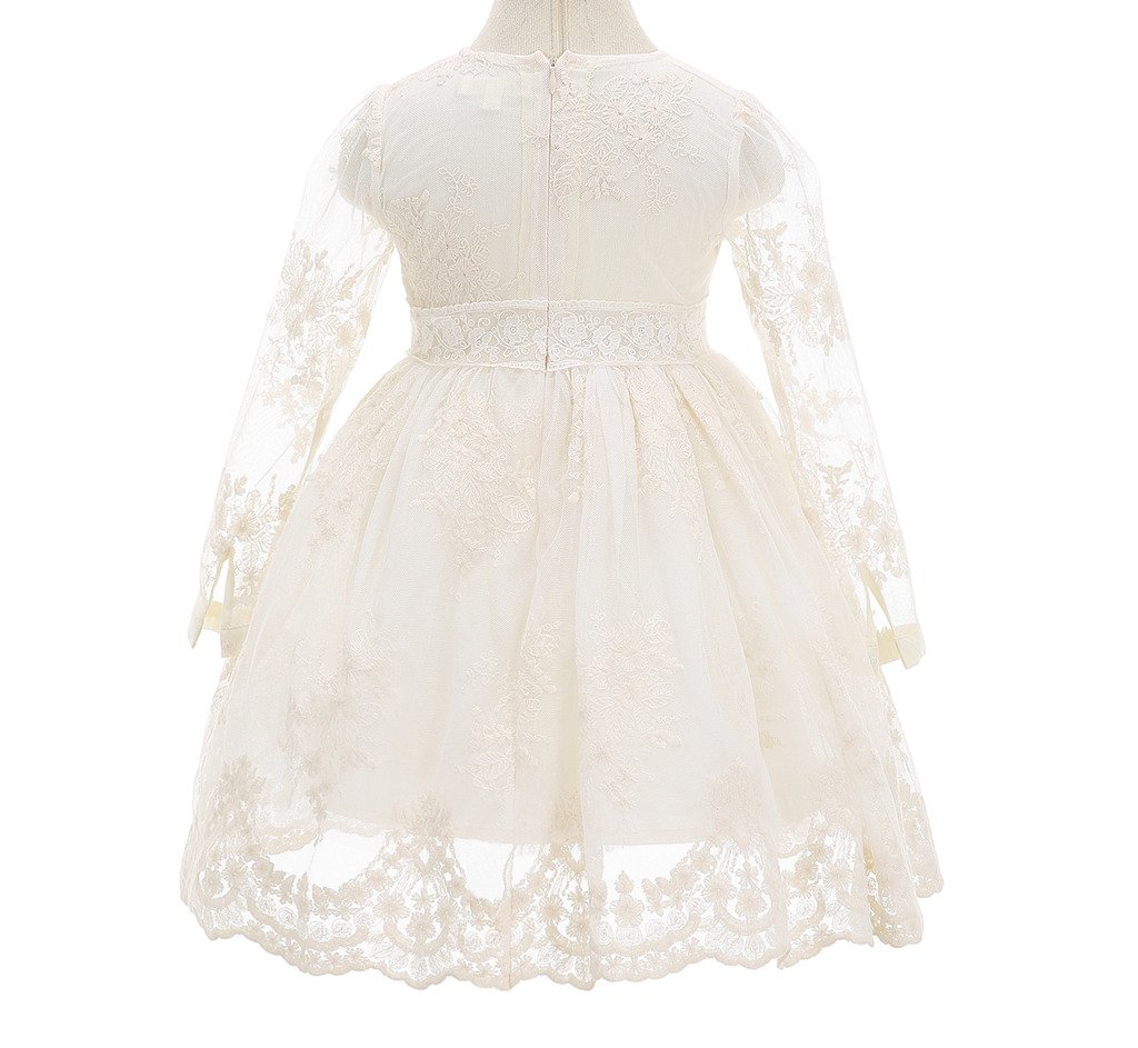 Bow Dream Flower Girl Dress Vintage Lace 1