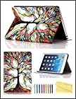 iPad Mini Case, iPad Mini / Mini 2/ 3 Retina Case Cover, [2014 Release] Dteck® Fashion Vintage Design Flip PU Leather Smart Cute Stand Case, Automatic Wake/ Sleep Function Full Body Protective Case Cover for Apple iPad Mini 3 [Compatible with iPad Mini 3 with Retina Display (7.9 Inch Tablet)] with Long Random Color Touch Screen Stylus [Kid's Gift/ Christmas Gift] (#04 Big Tree)