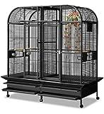 Papageienvoliere XXL Los Angeles - in Antik 183 x 85cm reines Papageienkäfig Maß