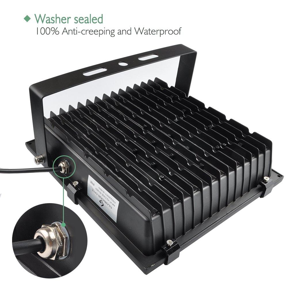 GLORIOUS-LITE LED Flood Light, 100W(500W Halogen Equiv), IP66 Waterproof Outdoor Work Lights, 6500K Daylight White, 8000lm, 110V