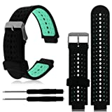 For Garmin Forerunner 230/235/630 Bands,Soft Silicone Replacement Wrist Watch Band for Garmin Forerunner 230/235/630 Smart Watch (Mint Green)