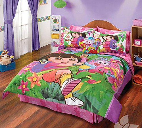 Comforter Set Dora The Explorer 4 Piece Twin