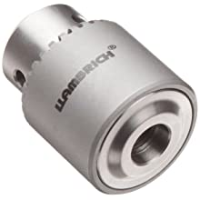 "Llambrich CSS Stainless Steel Drill Chuck with Key, 3/8"" x 24 UNF Mount, 30 mm Chuck Diameter, 0.8 mm-6.5 mm Capacity"