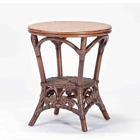 Table en rotin / table de balcon / table ronde / petit jardin table de thé / en plein air simple petite table ronde / table tissée à la main (taille en option) ( taille : 50*55cm )