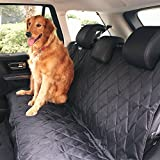 BarksBar Pet Car Seat Cover With Seat Anchors, Black