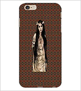 PrintDhaba Hat Girl D-4556 Back Case Cover for APPLE IPHONE 6 PLUS (Multi-Coloured)