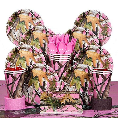 Costume Supercenter BBKIT229 Pink Camo Deluxe Kit - Serves 8