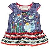 boboli, 801009 - Vestido Poliamida, color estampado denim, talla 9M(74cm)