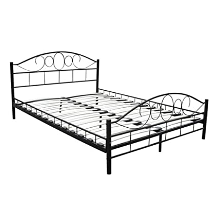Estructura de cama doble de metal diseño curvado