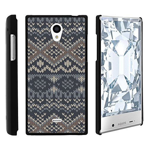 Sharp AQUOS Crystal Phone Case, Slim Hard Shell Snap On Case with Custom Images for Sharp AQUOS Crystal 306 SH (Sprint, Boost Mobile, Virgin Mobile) from MINITURTLE | Includes Clear Screen Protector and Stylus Pen - Native Sweater Pattern (Sharp Aquos Crystal International compare prices)