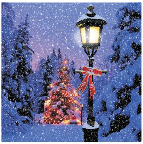 Ohio Wholesale Radiance Lighted Lamp Post Canvas Wall Art, from our Snowmen Collection