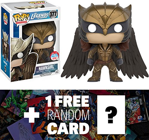 Hawkgirl (2016 NYCC Exclusive): Funko POP! x Legends of Tomorrow Vinyl Figure + 1 FREE Official DC Trading Card Bundle (094928)