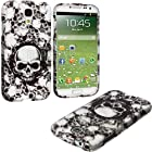 myLife (TM) Black + White Scary Skulls Series (2 Piece Snap On) Hardshell Plates Case for the Samsung Galaxy S4 Fits Models: I9500, I9505, SPH-L720, Galaxy S IV, SGH-I337, SCH-I545, SGH-M919, SCH-R970 and Galaxy S4 LTE-A Touch Phone (Clip Fitted Front and Back Solid Cover Case + Rubberized Tough Armor Skin + Lifetime Warranty + Sealed Inside myLife Authorized Packaging)