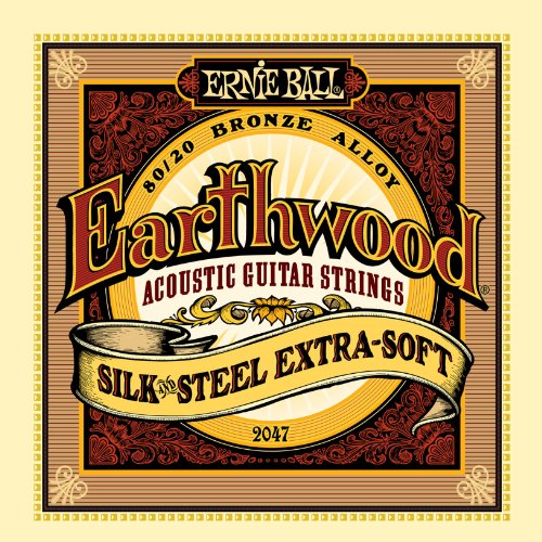 Ernie Ball Earthwood Silk and Steel Extra Soft Acoustic Set, .010 - .050 (Steel Guitar Strings compare prices)