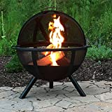 Sunnydaze Black Flaming Ball Fire Pit, 29 Inch Diameter Sphere