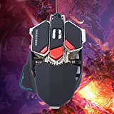 VersionTech Combaterwing ゲーミングマウス 有線マウス USBマウス 光学式 十ボタン 4800DPI RGB LED プロゲーマー用 Windows XP, Vista, Windows 7, ME, 2000 and Mac OS or 最新システム対応。