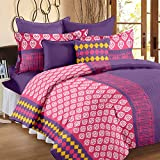 Story@Home Cotton Superior Cotton Double Bedsheet With 2 Pillow Covers - Multicolor