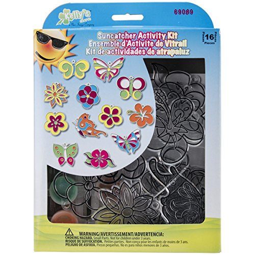 New-Image-Group-SGP-89-Suncatcher-Group-Activity-Kit-Butterfly-and-Flowers-12-Pack