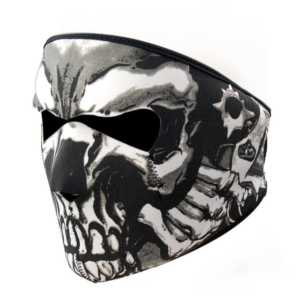 Skull Tubular Mask Bandana Motorcycle Scarf Face Neck Warmer ...