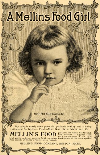 1899 Ad Mellin'S Baby Food Anne Bell Hale Mayfield Ky - Original Print Ad front-1017964