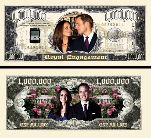 Prince William & Kate Middleton Royal Dollar (w/protector) - 1