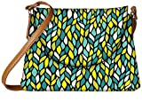 Snoogg a seamless leaf pattern Womens Carry Around Sling Bags