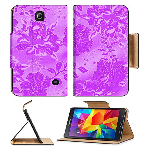 MSD Premium Samsung Galaxy Tab 4 7.0 Tablet Flip Pu Leather Case purple background with floral pattern Abstract illustration IMAGE 35046387 by MSD Customized Premium
