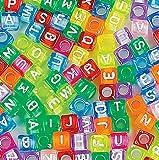 Bulk Plastic Awesome Alphabet Cube Beads (250)