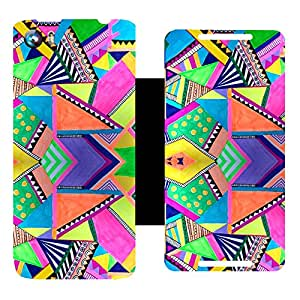 Skintice Designer Flip Cover with Vinyl wrap-around for Micromax Canvas Fire 4 A107, Design - aztec prints
