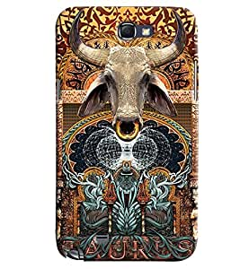 Omnam Cow Effect Printed Designer Back Case Samsung Galaxy Note 2