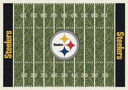 "Milliken Nfl Home Field Area Rug Pittsburgh Steelers 01075 Nfl Football Team 5' 4"" x 7' 8"" Rectangle"