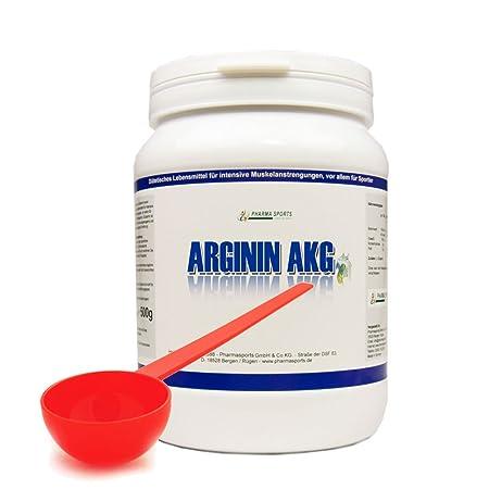 Arginin Pulver 500g + Dosierlöffel - reines Arginin AKG