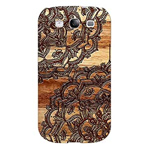 Jugaaduu Black Brown Doodle Pattern Back Cover Case For Samsung Galaxy S3