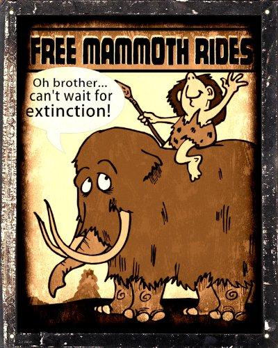 Mammoth Sign Caveman Funny Mancave Zoo Animal Art Bathroom Wall Decor 223