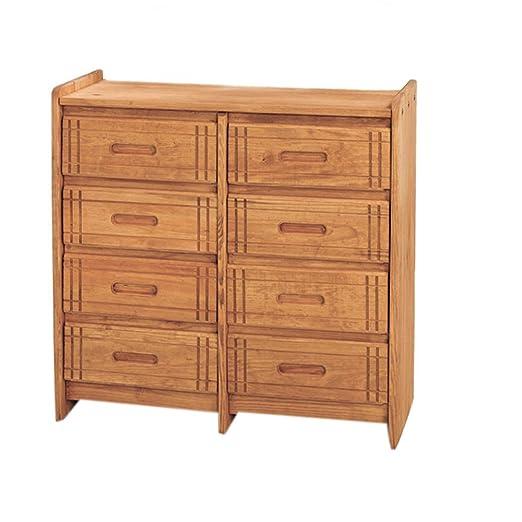 Chelsea Home Furniture 360088-W 8 Drawer Dresser, Honey Finish