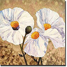 Paper Whites by Lisa Feather Knee Oversize Premium Gallery-Wrapped Canvas Giclee Art (Ready to Hang)