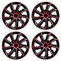 16 Zoll Radzierblenden / Radkappen Quad ROT 16 von CD auf Reifen Onlineshop