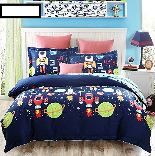 FADFAY Home Textile,Cute Bedding Set,Kids Cartoon Bedding Set,Galaxy Bedding,Queen Bed Sets