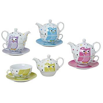 tea for one set 3 teilig porzellan teekanne mit tasse und untertasse in geschenkbox db508. Black Bedroom Furniture Sets. Home Design Ideas