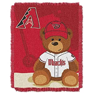 MLB Arizona Diamondbacks Field Woven Jacquard Baby Throw Blanket, 36x46-Inch by Northwest
